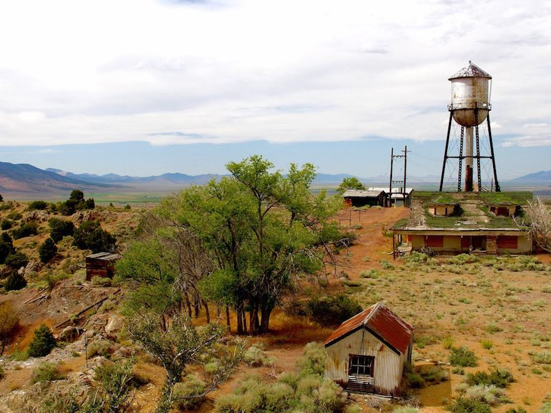 The abandoned ghost town of Ruby Hill lies just off the Loneliest Road outside of Eureka, Nevada