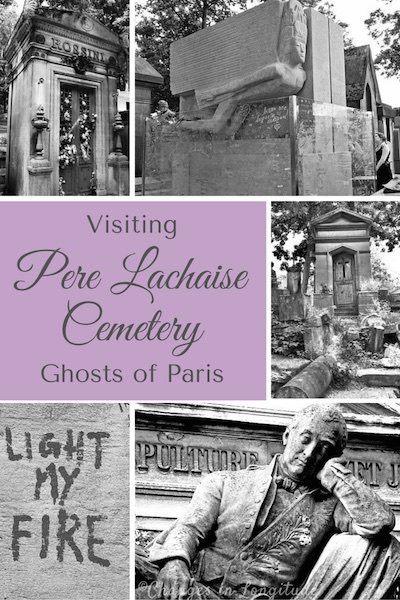 Pere Lachaise Cemetery in Paris is a hauntingly beautiful place where you can visit the the grave of rock star Jim Morrison, along with many other famous artists, writers and musicians.