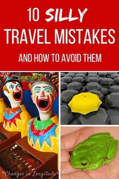 We're experienced world travelers but that doesn't mean we don't occasionally make stupid mistakes. From flushing frogs down the toilet to being mistaken for a dominatrix, here are our top ten travel mistakes, so far . . .