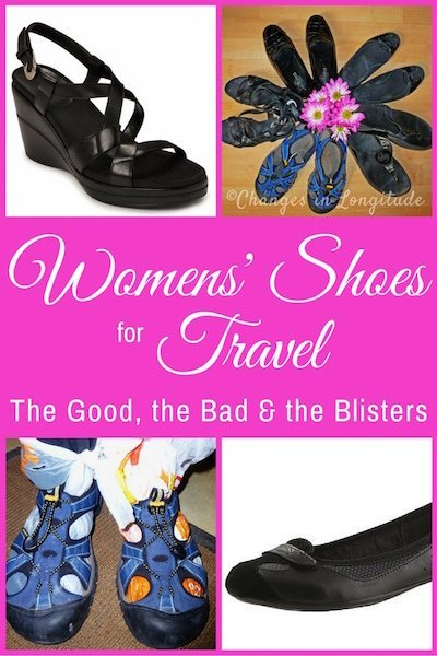 I strip down to the bare toes to share my best--and worst--travel shoes for women, based on 5 years of full-time travel