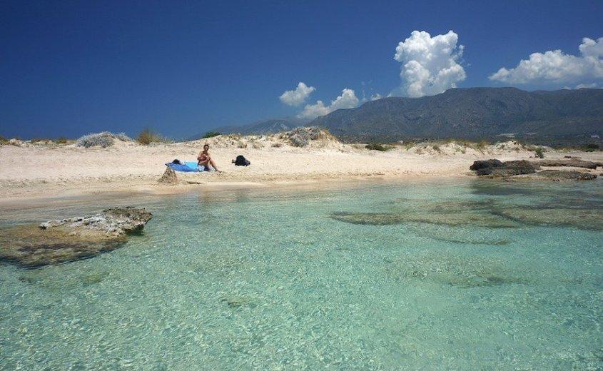 sunbathing in Crete