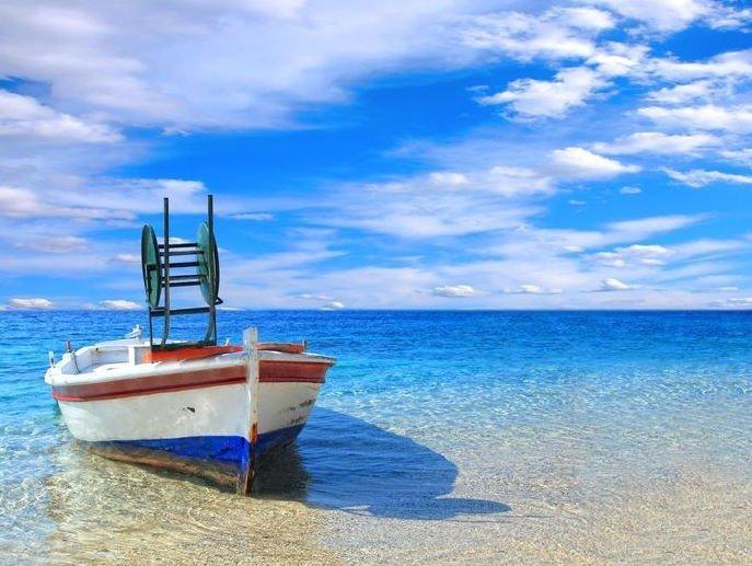 Crete beach view