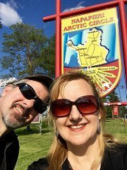 Larissa and Michael at the Arctic Circle