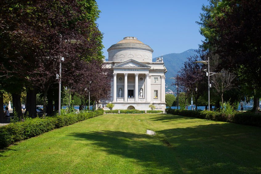 38799796 - the volta temple in como town, italy,