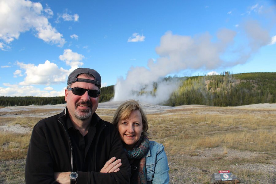 Larissa Michael Milne Old faithful geyser