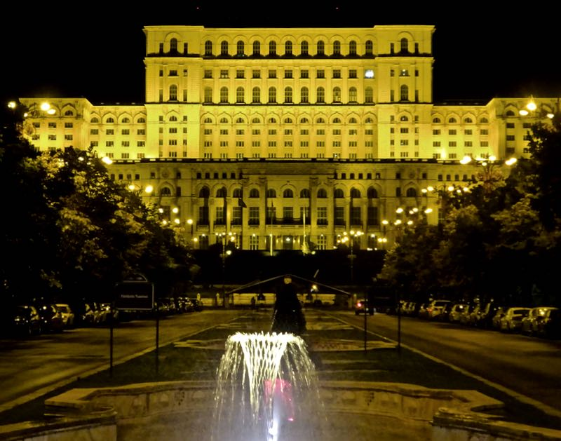 Bucharest Palace of Parliament night