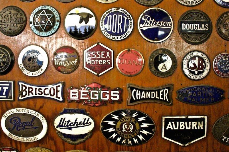 antique car insignias Swigart Museum