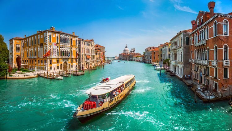 Europe by water Venice canal boat ride