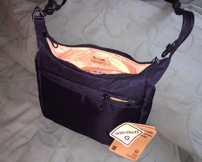 Perfect travel purse: The City Safe 100 Bag by PacSafe