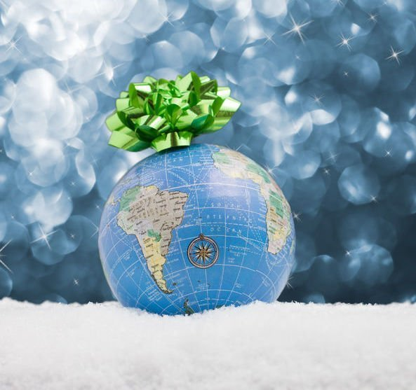 perfect travel gifts globe with bow