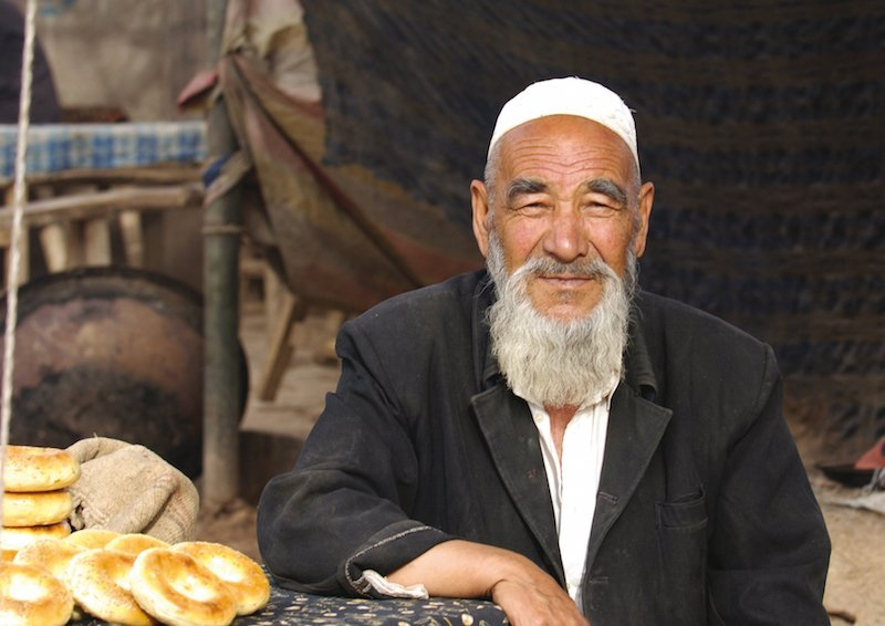 Visiting the Silk Road-local man in Kashgar