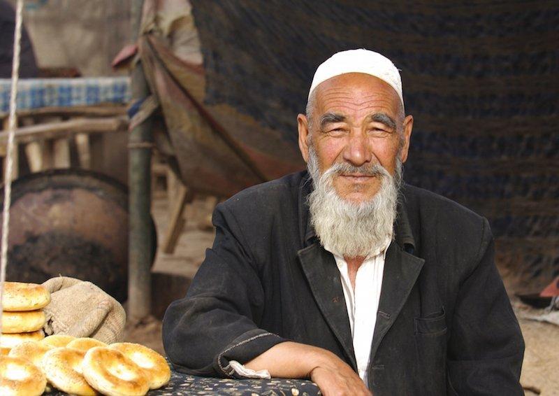 Visiting the Silk Road-local man in Kashgar