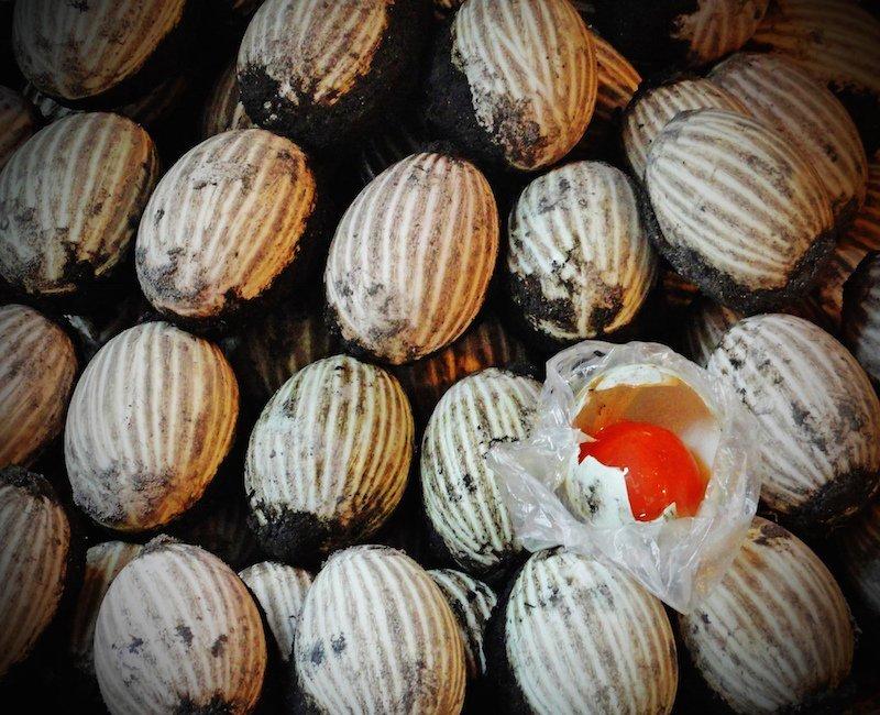 Hong Kong market thousand year old egg