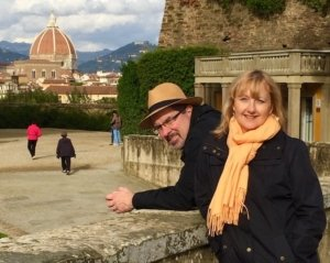 Larissa and Michael Milne in Florence
