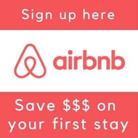 Sign up for Airbnb through our referral link and you'll get $$$ off on your first stay (& so will we :)