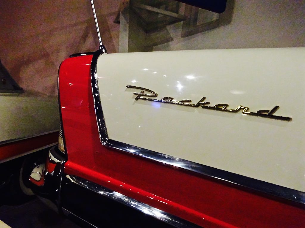 National Packard Museum Packard logo on tailfin