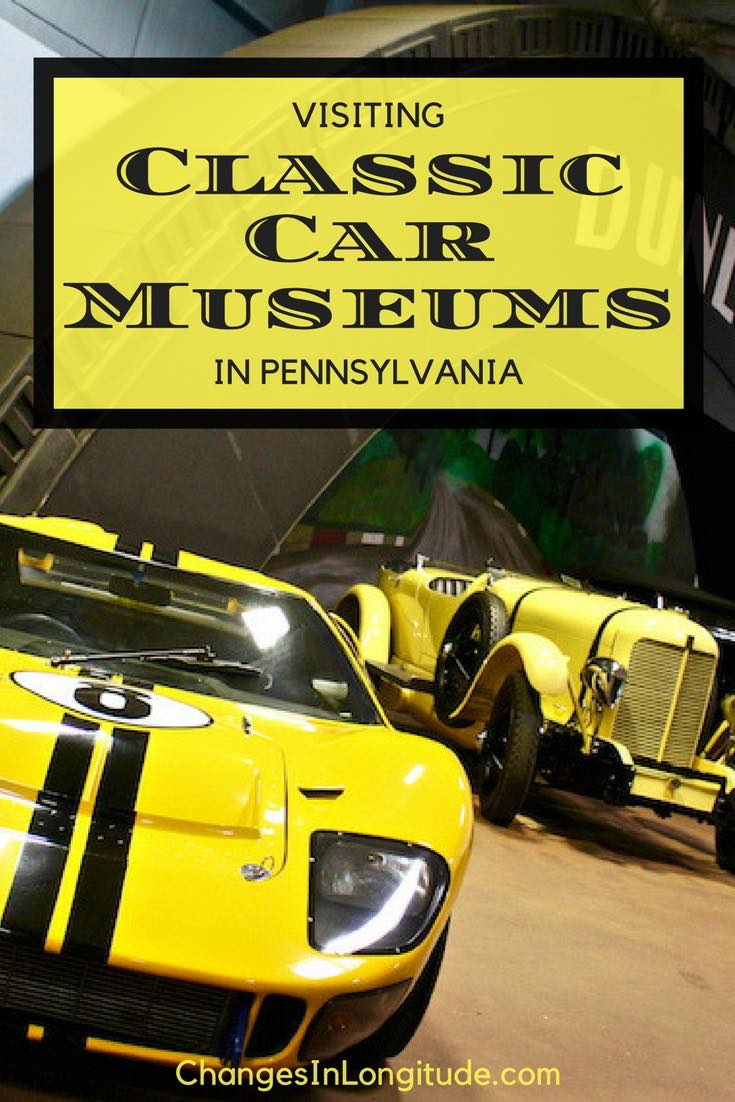 Classic car museums in Pennsylvania|where to see antique cars in Pennsylvania|Car museums in Pennsylvania|Simeone museum|Swigart museum|AACA Museum Hershey PA|Eagles Mere car museum