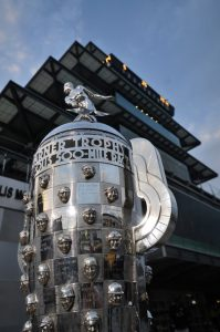 Indy 500 Trophy, photo courtesy Visit Indy