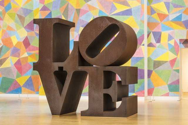 Indianapolis Museum of Art, LOVE statue. Photo courtesy of Visit Indy