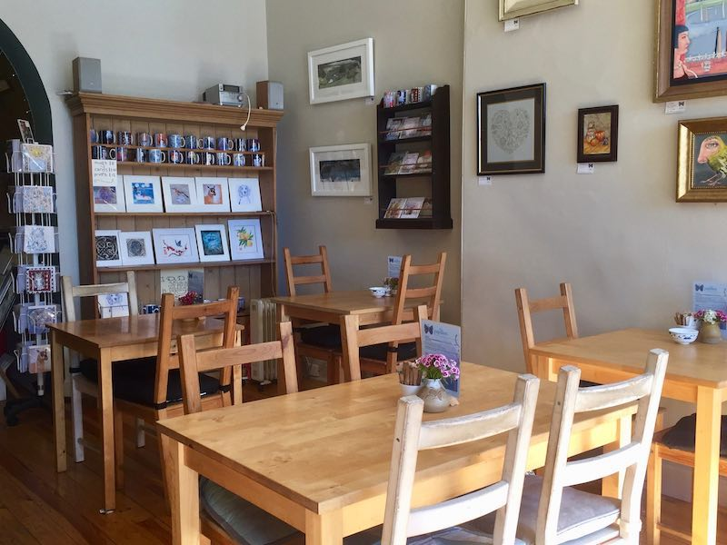 pretty cafe and art gallery
