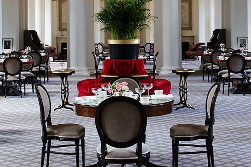 Elegant high tea at the Colonnades in Edinburgh