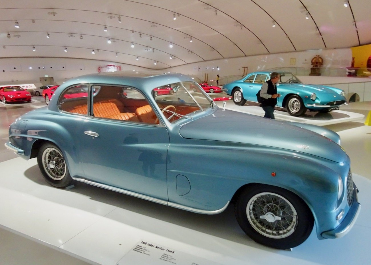 1948 Ferrari 166 Inter Aerlux at the Ferrari Museum in Modena