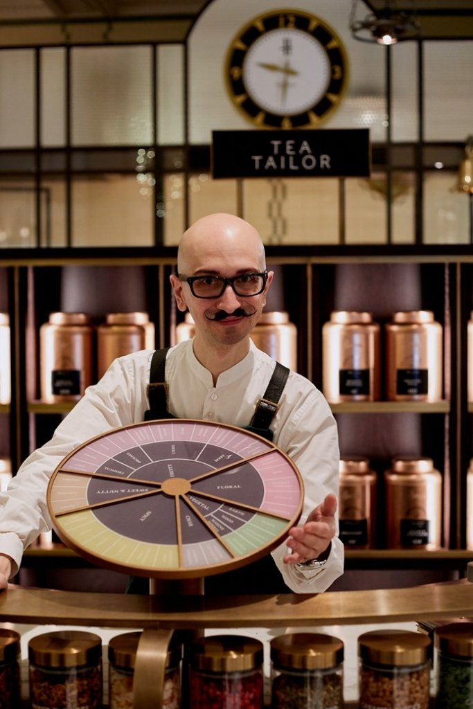 The tea tailor at Harrods food hall